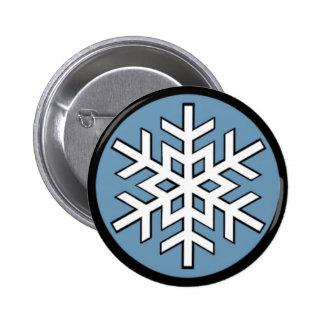 Jonny Snow Snowflake Pinback Button