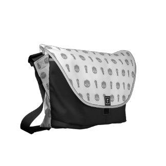 JonnyJamma Black & White Messenger Bag