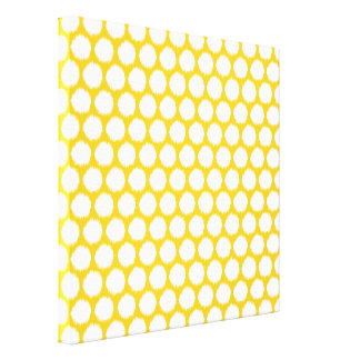 Jonquil Asian Moods Ikat Dots Canvas Print