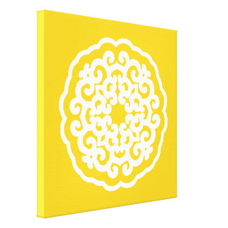 Jonquil Asian Moods Mandalla Gallery Wrapped Canvas