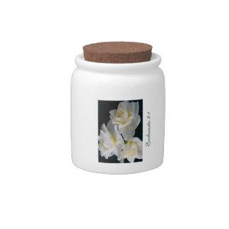 Jonquil Flower - Ecclesiastes 3:1 Candy Jar