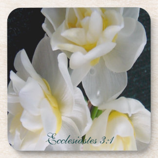 Jonquil Flower - Ecclesiastes 3:1 Coaster