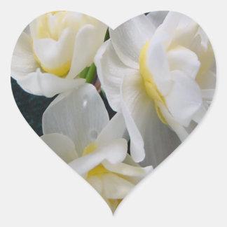 Jonquil Flower - Ecclesiastes 3:1 Heart Sticker