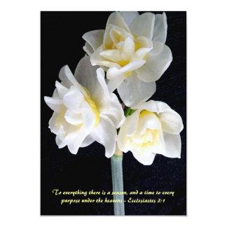 "Jonquil Flower - Ecclesiastes 3:1 5"" X 7"" Invitation Card"