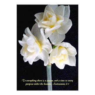 Jonquil Flower - Ecclesiastes 3:1 Invites