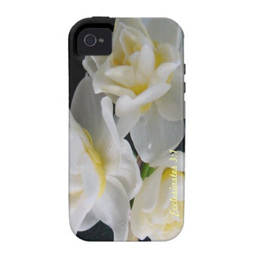 Jonquil Flower - Ecclesiastes 3:1 iPhone 4 Cases