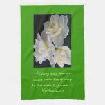 Jonquil Flower - Ecclesiastes 3:1 Kitchen Towel