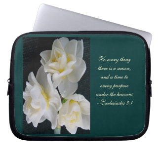 Jonquil Flower - Ecclesiastes 3:1 Laptop Sleeve