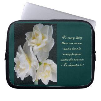 Jonquil Flower - Ecclesiastes 3:1 Laptop Sleeves