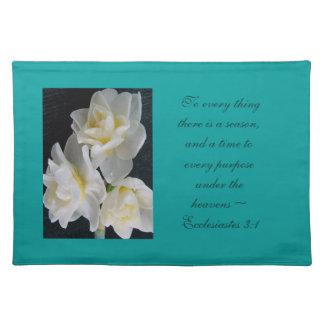 Jonquil Flower - Ecclesiastes 3:1 Placemat