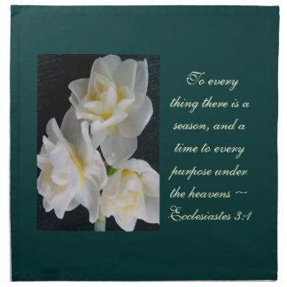 Jonquil Flower - Ecclesiastes 3:1 Printed Napkins