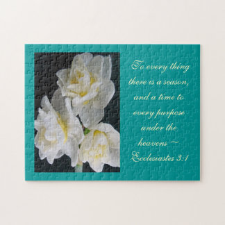 Jonquil Flower - Ecclesiastes 3:1 Puzzle