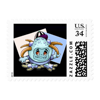 "JONY PITTY MONSTER POSTAGE STAMP Small 1.8"" x 1.3"""