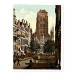 Jopengasse, Danzig, Prusia del oeste, Alemania (es Tarjeta Postal