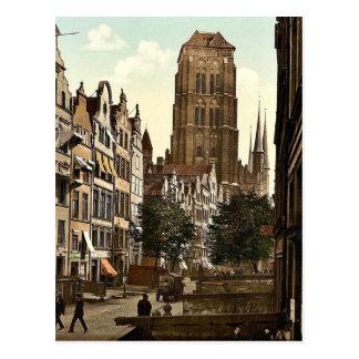 Jopengasse Danzig West Prussia Germany i e G Post Card