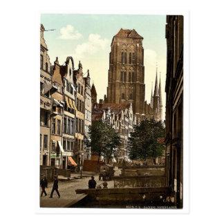 Jopengasse Danzig West Prussia Germany i e G Postcard
