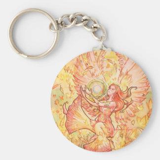 Jophiel Basic Round Button Keychain