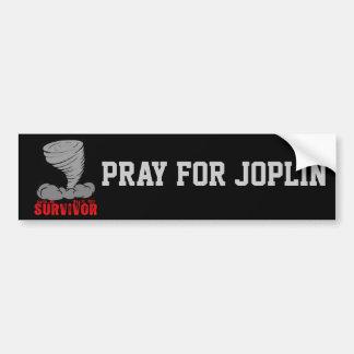 Joplin Missouri Tornado Survivor Car Bumper Sticker