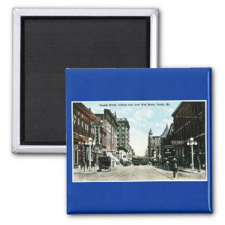 Joplin, postal del vintage de Missouri Imán Cuadrado
