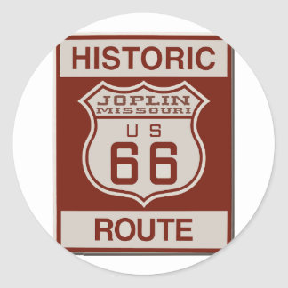 Joplin Route 66 Classic Round Sticker