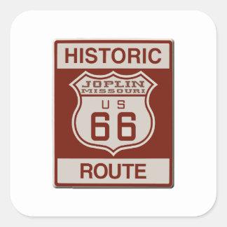 Joplin Route 66 Square Sticker
