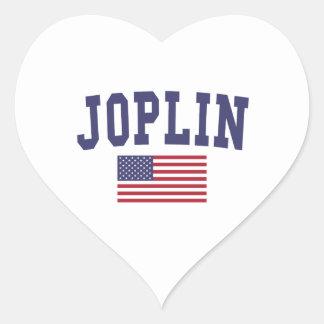 Joplin US Flag Heart Sticker