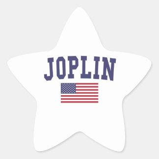 Joplin US Flag Star Sticker