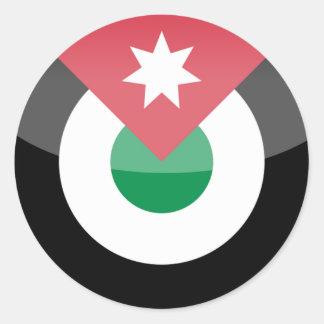 jordan classic round sticker