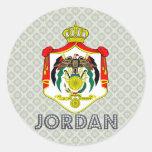 Jordan Coat of Arms Classic Round Sticker