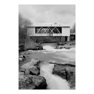 Jordan Covered Bridge Poster