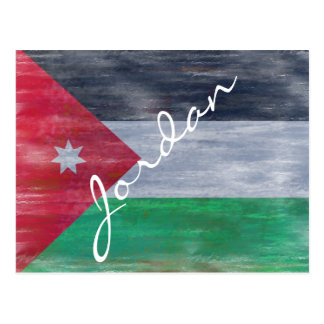 Jordan distressed Jordanian flag Postcard