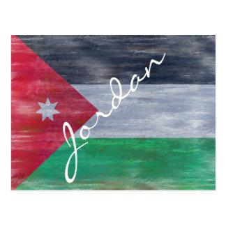 Jordan distressed Jordanian flag Postcard