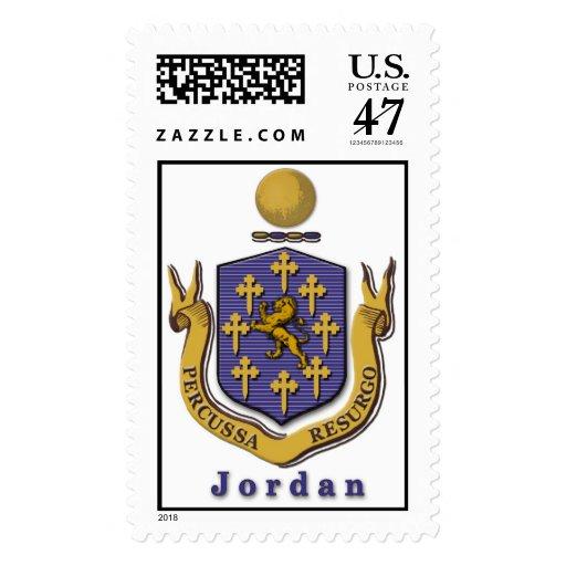Jordan Family Crest Postage Stamp