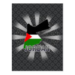 Jordan Flag Map 2.0 Postcard