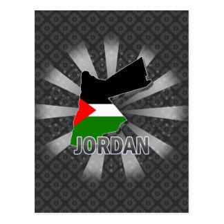 Jordan Flag Map 2.0 Post Cards