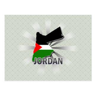 Jordan Flag Map 2.0 Postcards