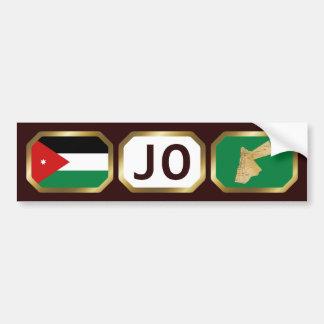 Jordan Flag Map Code Bumper Sticker