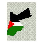 Jordan Flag Map full size Postcard