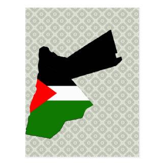 Jordan Flag Map full size Post Cards