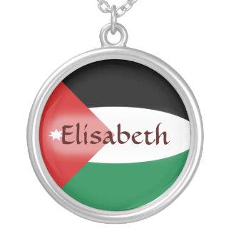 Jordan Flag + Name Necklace