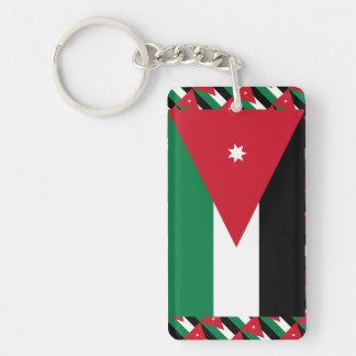 Jordan Flag Single-Sided Rectangular Acrylic Keychain