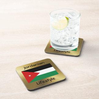Jordan Flag+Text Coaster