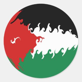 Jordan Gnarly Flag Classic Round Sticker