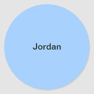 Jordan Light Blue  Kids Name Sticker Personalized