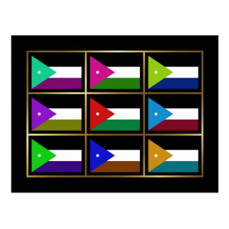 Jordan Multihue Flags Postcard