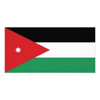 Jordan National Flag Photo Greeting Card
