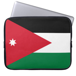 Jordan National World Flag Computer Sleeve