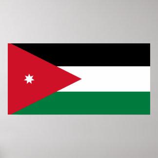 Jordan National World Flag Poster