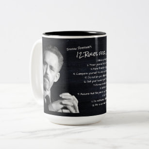 Jordan Peterson's 12 Rules for Life Motivational Two-Tone Coffee Mug