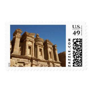 Jordan, Petra, The Monastery, Al Deir. 2 Postage Stamps